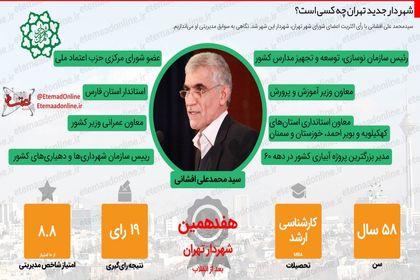 شهردار جدید تهران چه کسی است؟ +اینفوگرافیک