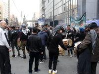 عزاداری خانواده قربانیان سانچی مقابل شرکت ملی نفتکش +عکس
