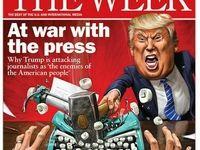 طرح جلد شماره جدید نشریه «ویک» با موضوع جنگ ترامپ با رسانهها
