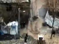 تصاویری از جاری شدن سیلاب در فشم تهران +فیلم