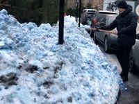 بارش برف آبیرنگ در روسیه +تصاویر