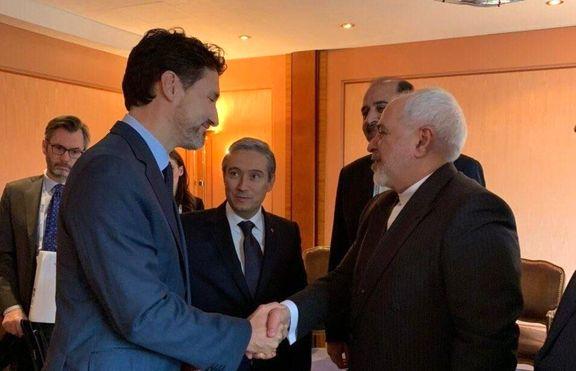 ظریف با نخست وزیر کانادا دیدار کرد