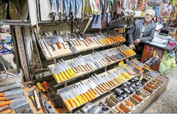 بازار رو به افول سازندگان چاقو در راسته بازار مولوی