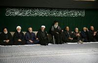 برگزاری عزاداری حضرت اباعبدالله با حضور رهبر انقلاب