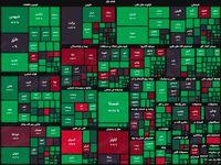 نقشه بورس امروز بر اساس ارزش معاملات/ رشد ۲۲هزار واحدی شاخص جان تازهای به بازار بخشید