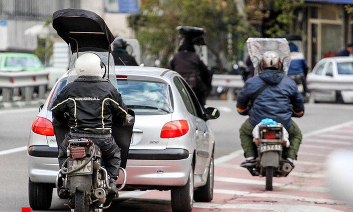 سهم موتورسیکلتها در تولید آلایندگی گازی