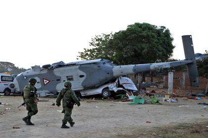 سقوط هلیکوپتر در مکزیک +تصاویر