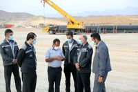 بازدید مدیرعامل گلگهر از پروژه انتقال آب خلیجفارس