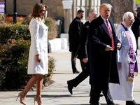 ترامپ و همسرش به کلیسا رفتند +تصاویر
