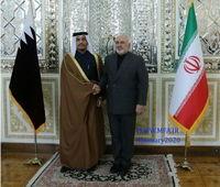 دیدار وزیر خارجه قطر با ظریف