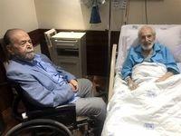 دیدار دو بازیگر پیشکسوت در بیمارستان +عکس