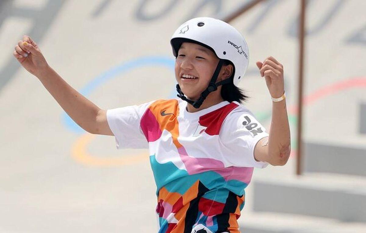 دختر ١٣ساله قهرمان المپیک توکیو شد
