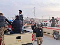انتقال پیکر شهدای ایرانی و عراقی به مراسم تشییع +عکس