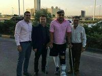 احسان حدادی به کشور بازگشت+ عکس
