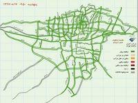 وضعیت ترافیکی بزرگراه های تهران +نقشه