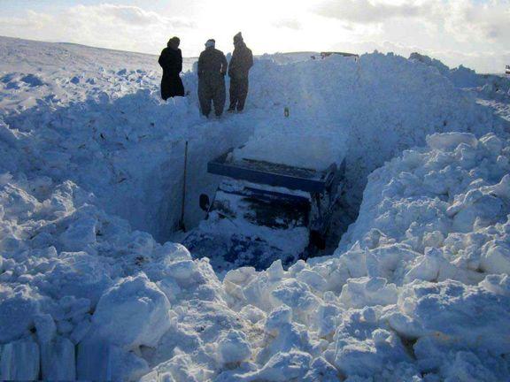 میزان برف در کردستان +عکس