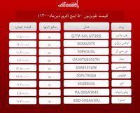 قیمت تلویزیون ۵۰اینچ / ۲۵فروردینماه