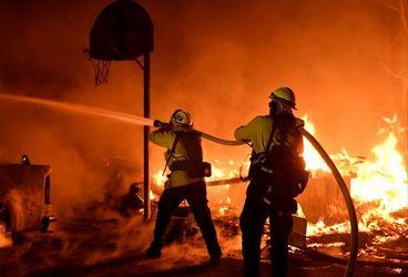 آتشسوزی گسترده در مناطق جنگلی جنوب کالیفرنیا