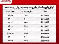 قیمت پاوربانک انرجایزر در بازار +جدول