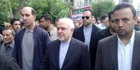 ظریف در راهپیمایی ۲۲بهمن +فیلم