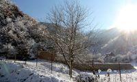 برف پاییزی در ارتفاعات زیارت +عکس