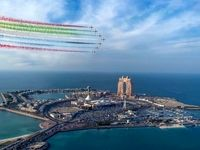آسمان رنگین ابوظبی +عکس