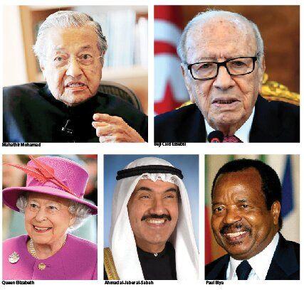 پیرترین رهبران زنده جهان +تصاویر