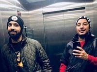 سلفی بازیگر معروف در آسانسور +عکس