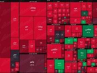 نقشه بورس امروز بر اساس ارزش معاملات/ بازار قبل از رسیدن بایدن به کاخ سفید خود را قربانی کرد