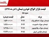 قیمت انواع نیسان در بازار پایتخت +جدول