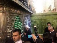 تصاویری  از حضور روحانی در نجف و تلاش نفس گیر تیم حفاظت +فیلم