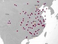 توقف پرواز هزاران هواپیما در چین +فیلم