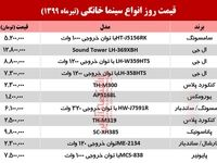 قیمت روز سینما خانگی (۱۳۹۹/۴/۷)