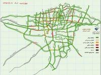 وضعیت هماکنون ترافیکی شهر تهران +نقشه