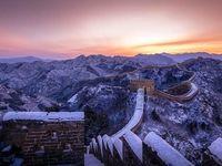 نمای برفی زیبا دیوار چین +تصاویر
