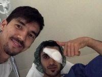 میرزاجانپور با ۶ بخیه از بیمارستان مرخص شد +عکس