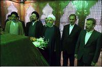 تجدید میثاق اعضای دولت با آرمانهای امام راحل +عکس