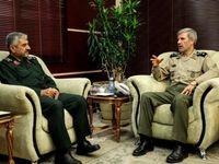 فرمانده کل سپاه پاسداران با وزیر دفاع دیدار کرد