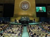 سخنان روحانی درباره حادثه اهواز در نیویورک +فیلم