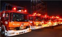 آتشسوزی گسترده در انبار لاستیک