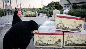 مراسم وداع با پیکرهای مطهر ۱۵۰شهید تازه تفحص شده دفاع مقدس +عکس