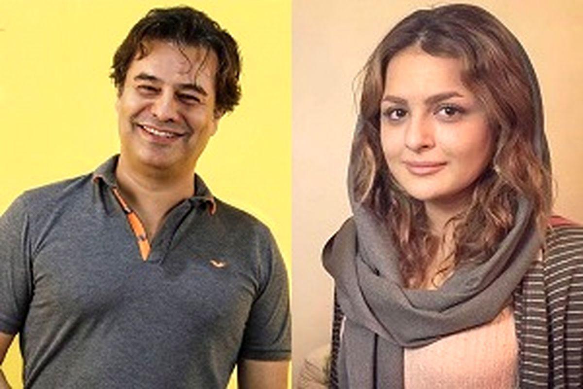 پیمان قاسم خانی و همسرش در سال نو +عکس