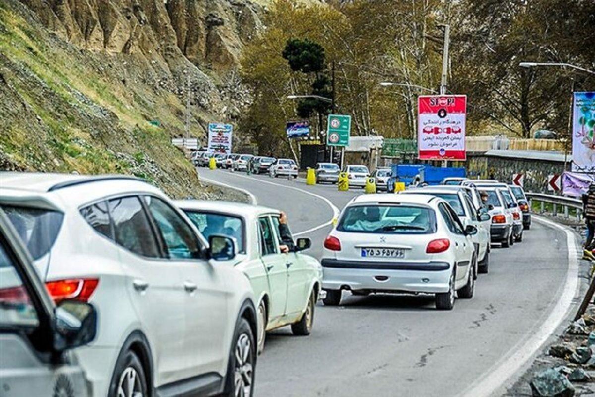 کاهش تردد جادهای در شبانهروز گذشته