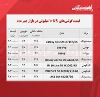قیمت گوشی (محدوده ۱۰ میلیون تومان/ ۲۰ مهر )