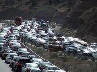 ترافیک صبحگاهی در آزادراه کرج-تهران