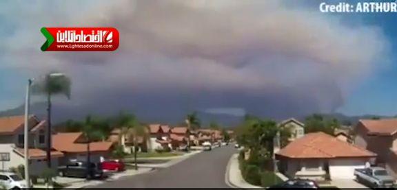 فیلمی متفاوت از آتشسوزی کالیفرنیا