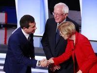 مناظره برنی سندرز و رقبای دموکراتش +تصاویر
