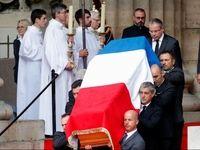 مراسم خاکسپاری ژاک شیراک با حضور رهبران جهان +فیلم
