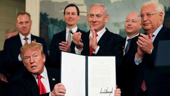رونمایی از معامله قرن در برهه فعلی هدیه به نتانیاهو است