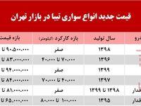 قیمت تیبا در بازار تهران +جدول